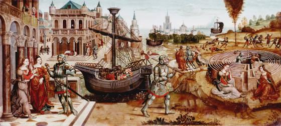 Teseo y su barco